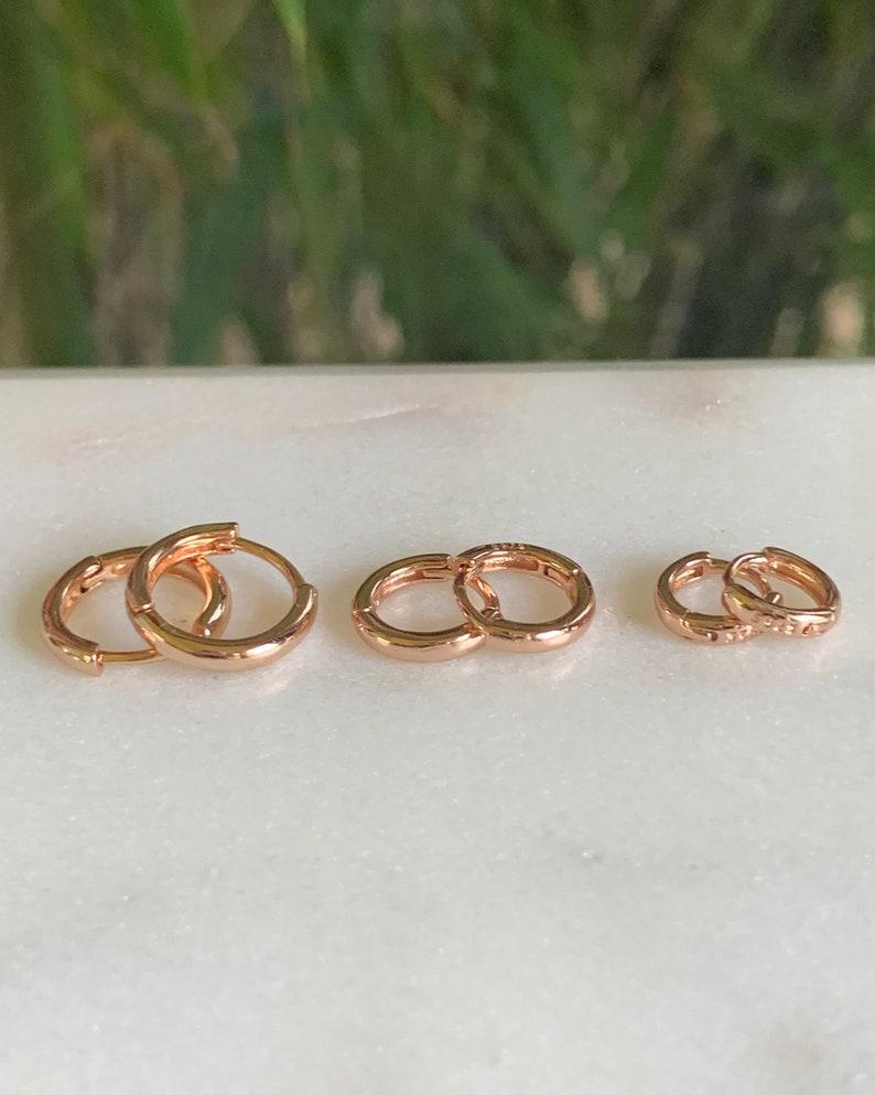 Huggie earrings  Huggie hoop earrings image 0
