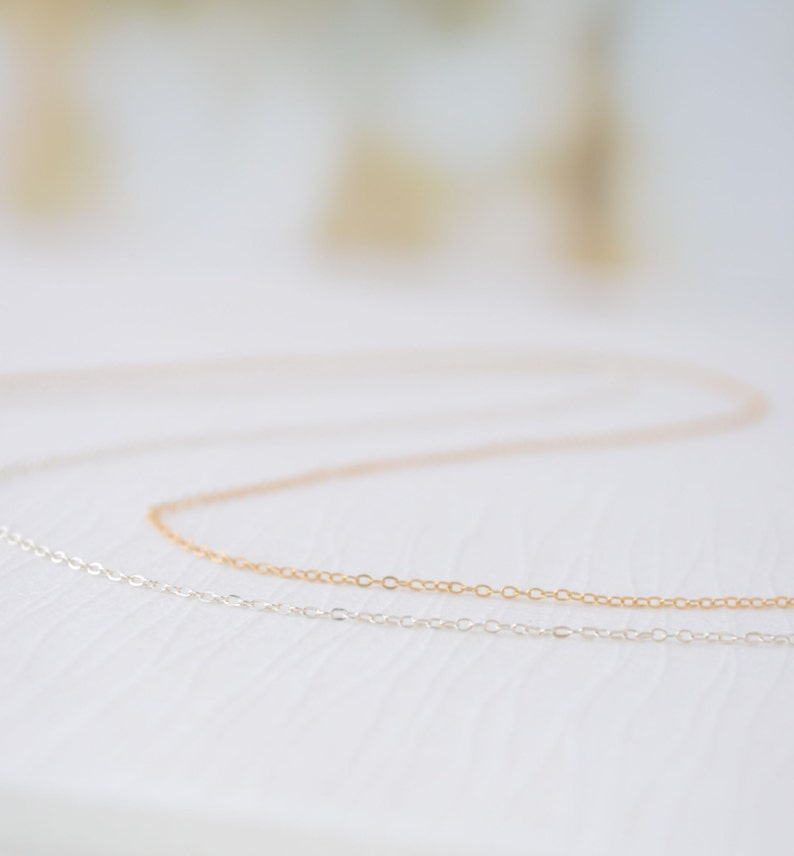 14k Rose Gold Filled Chain 14k Gold Filled Chain Sterling image 0