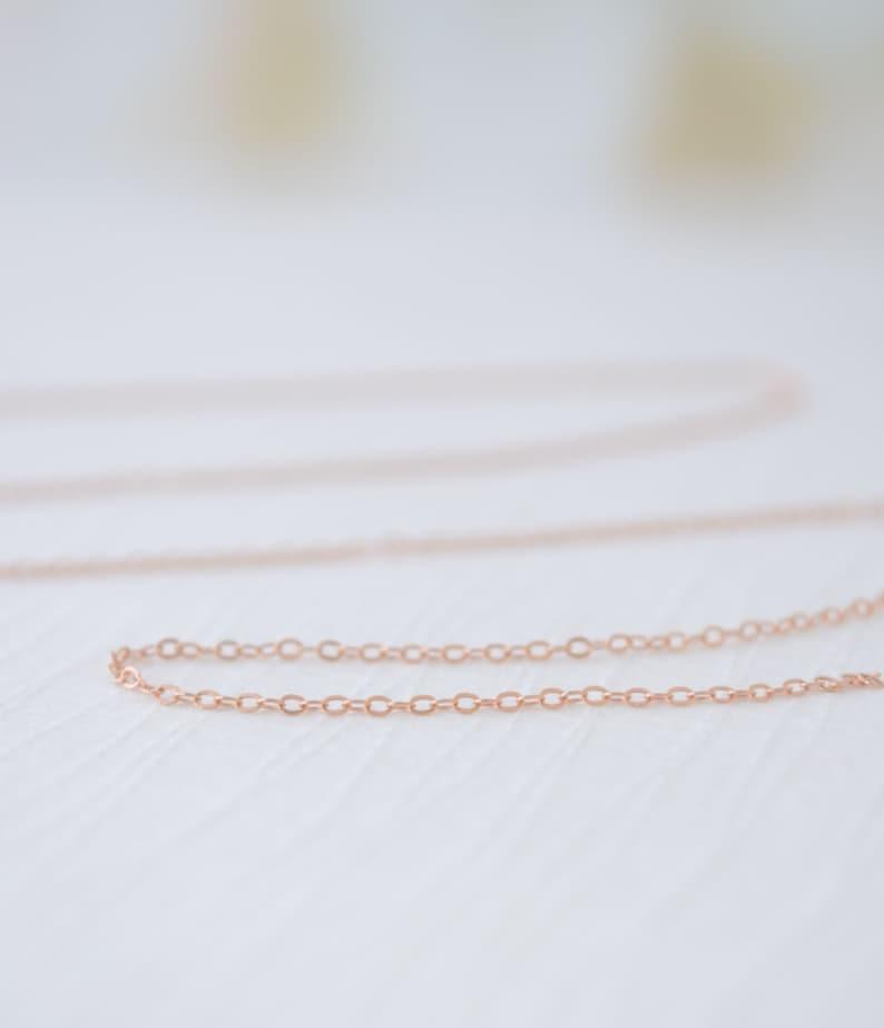 Rose Gold Filled Plain Necklace  finished rose gold necklace image 0