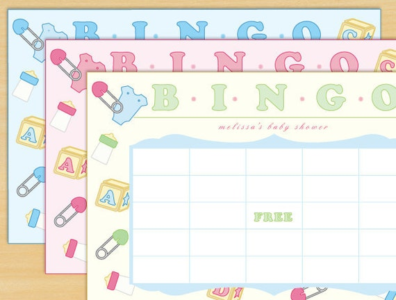 Items similar to Baby Shower BINGO Game - Printable and ...