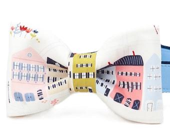 Crew LaLa ™ Rainbow Row Bow Tie Dog Collar