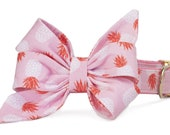 Crew LaLa™ Pink Pineapple Belle Bow Dog Collar