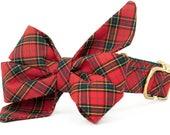 Crew LaLa™ Beaufain Plaid Belle Bow Dog Collar