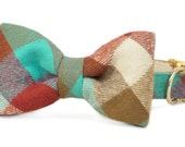 Crew LaLa™ Park Circle Plaid Bow Tie Dog Collar