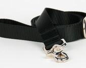 Crew LaLa™ Black Naked Webbing Dog Leash