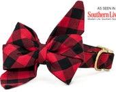 Crew LaLa™ Buffalo Plaid Belle Bow Dog Collar