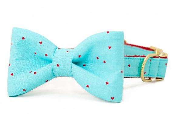 Crew LaLa ™ Confetti Hearts Bow Tie Dog Collar