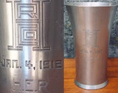 1912 Pewter Trophy Vase by Reed Barton- Arts and Crafts Period- H.E.R. RHCO January 4th - Art Deco- Craftsman-