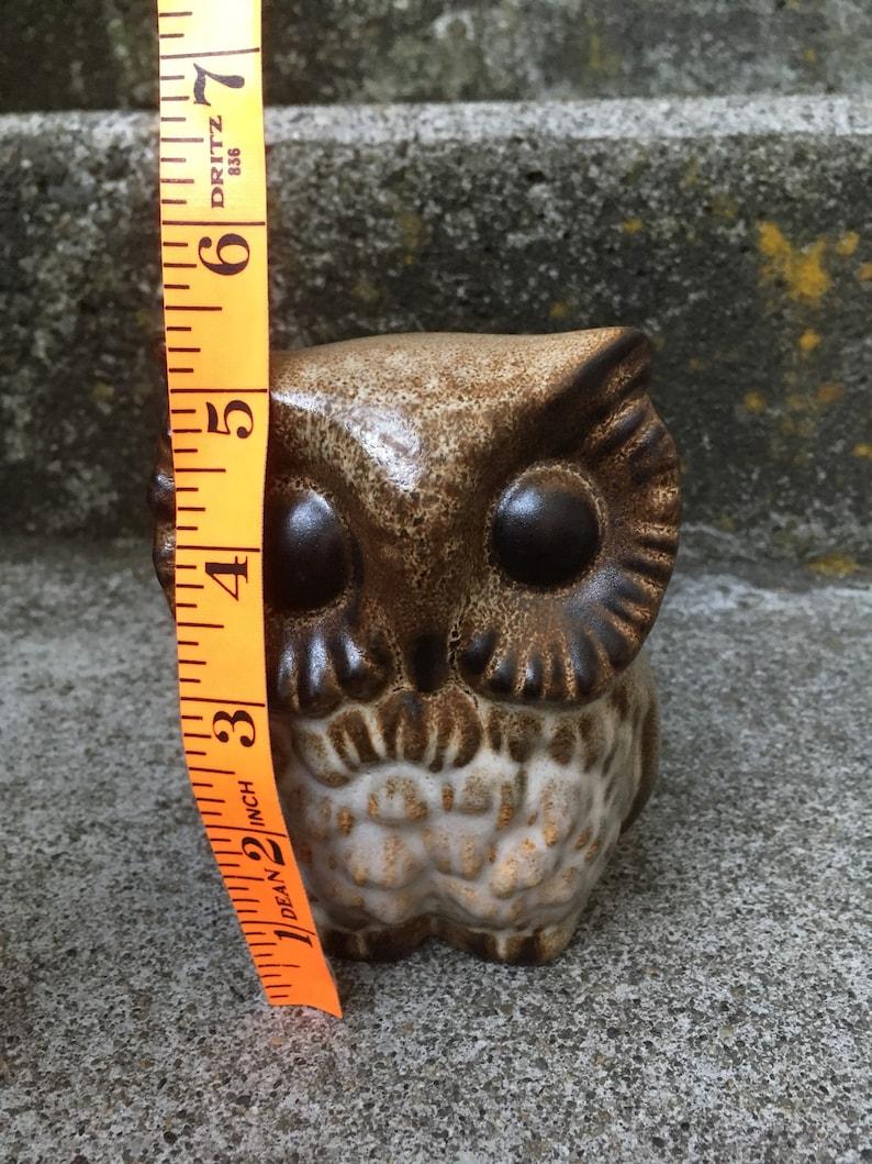 Mid Century Art Pottery Figural Porcelain Studio Pottery Howard Pierce Horned Owl 5 Inch Variation