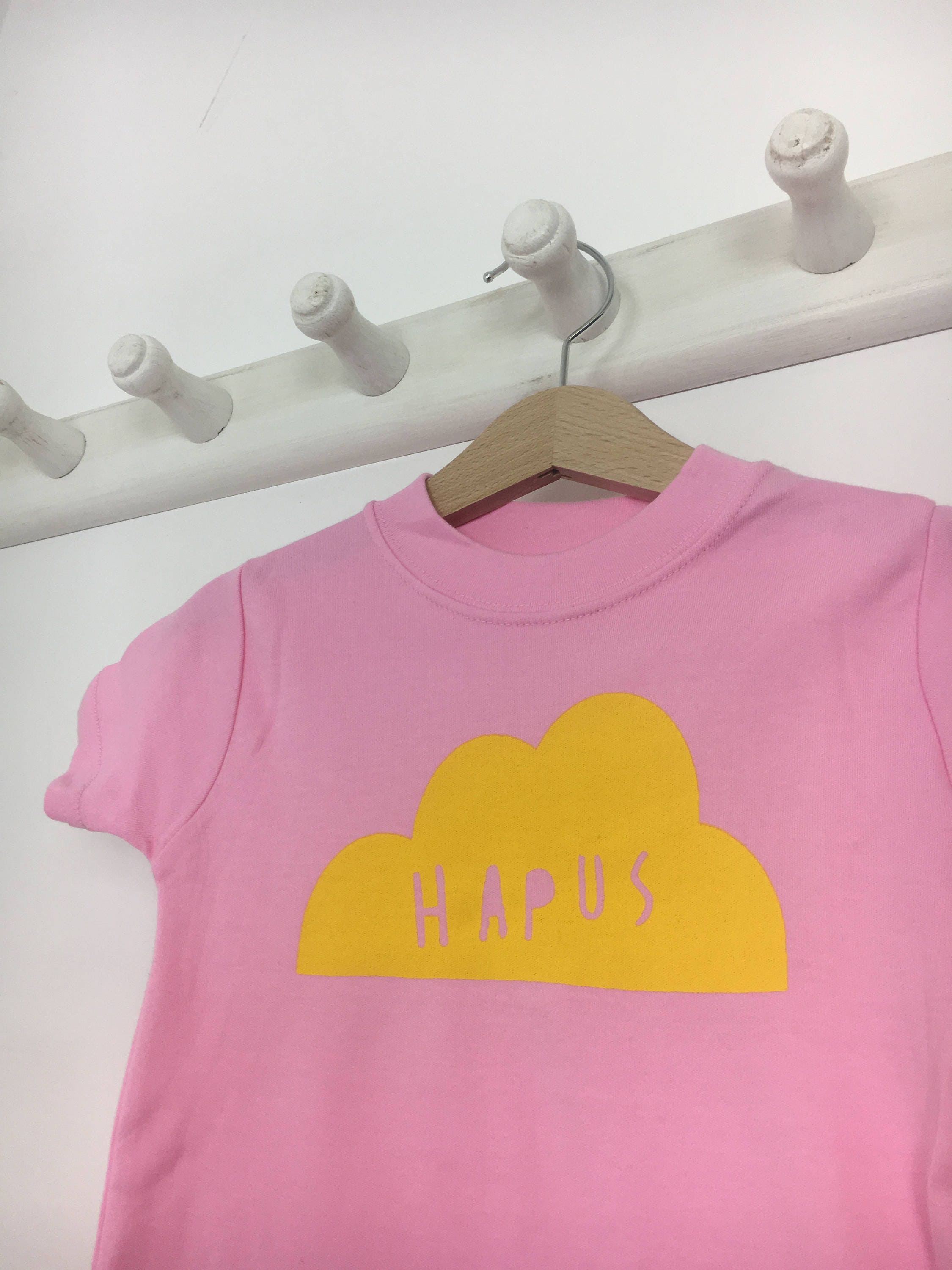 37f34325c SALE Baby Clothes Candy Floss Pink T-shirt Welsh Text Hapus ...