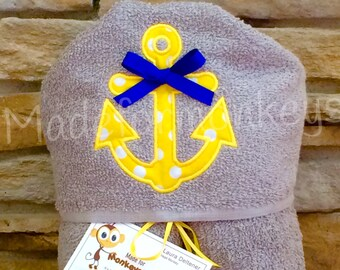 Kids Hooded Towel Anchor