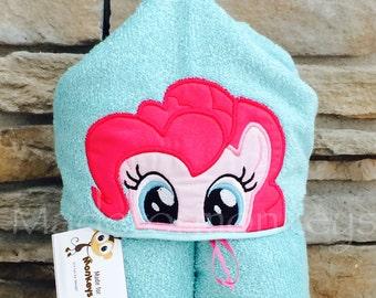 Pink Horse Hooded Towel