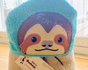 Sloth Kids Hooded Towels