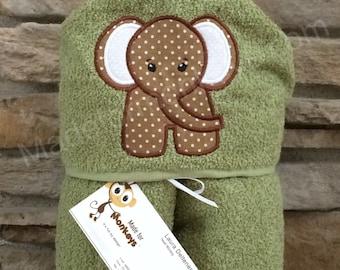 Kids Hooded Towel Baby Elephant
