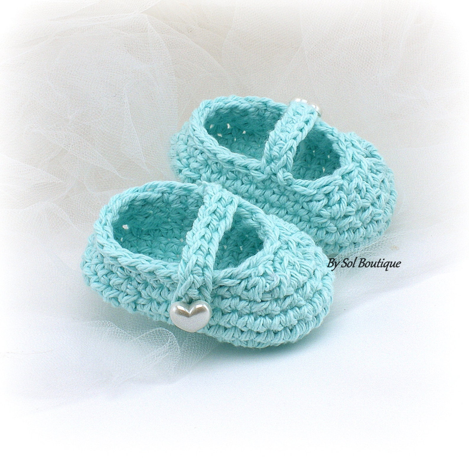 girl baby shoes,new born shoes,aqua,turquoise,mint,crochet shoes,photo prop,baby ballet shoes,booties,baby shower,gift for baby,