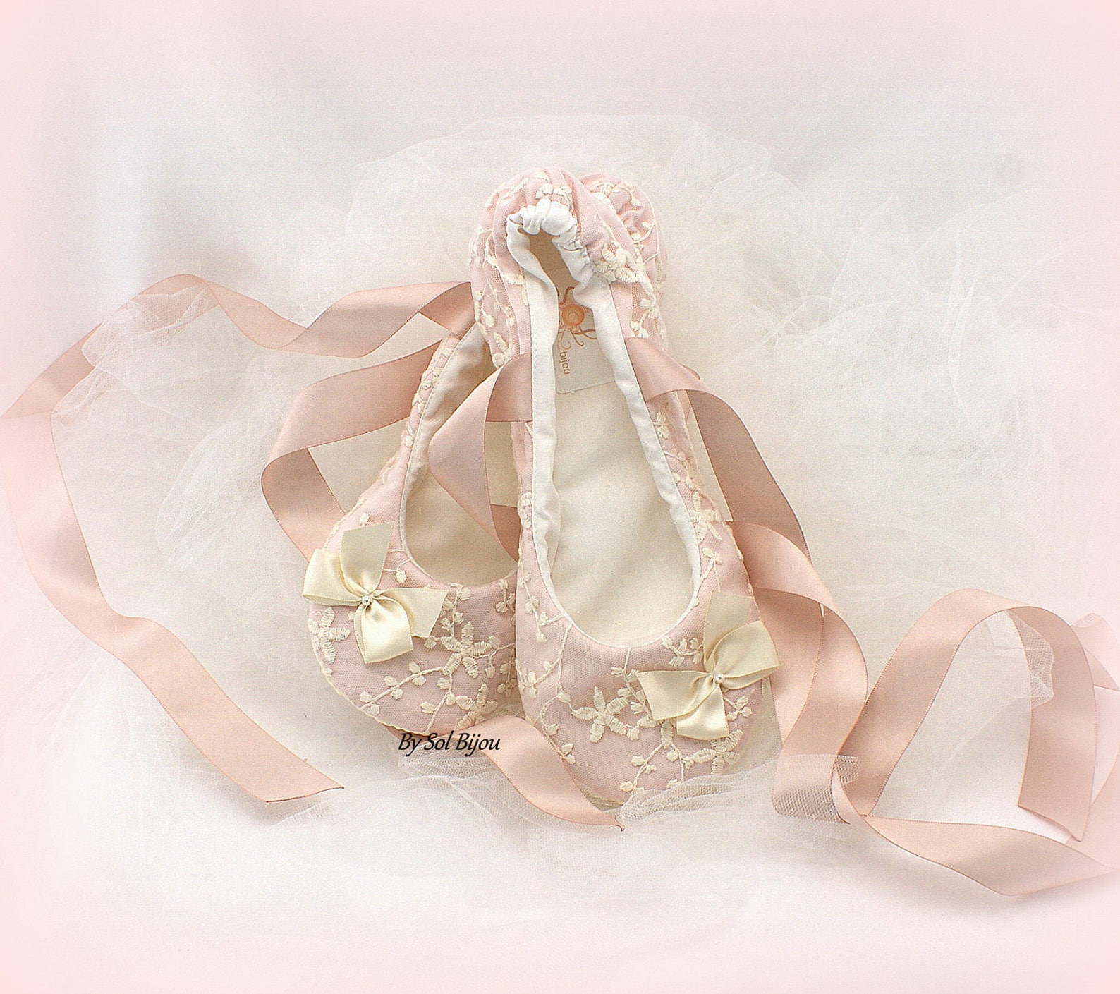flower girl ballet flats shoes pink blush ballet slippers flats with bows ballet shoes with ribbonties for girls