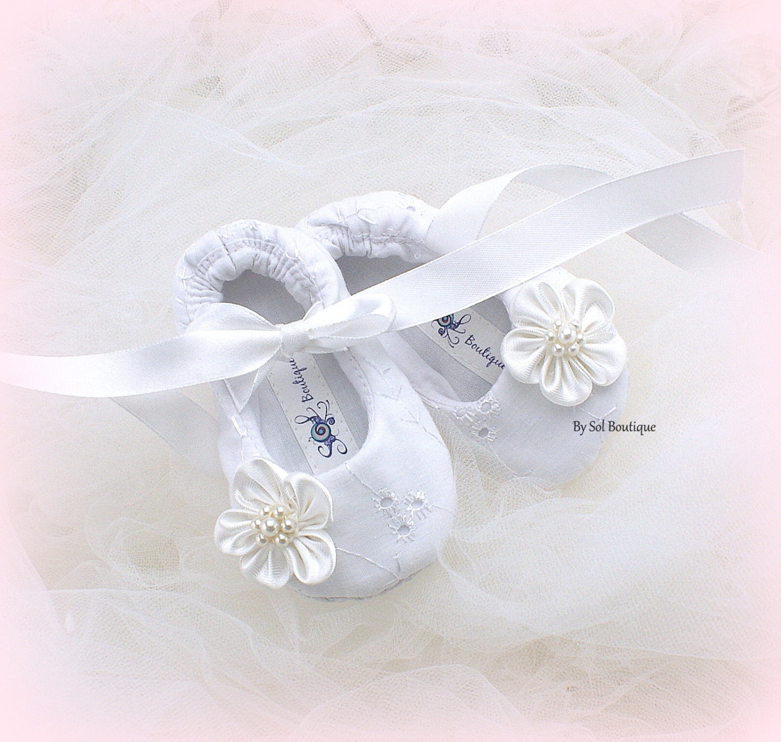 new born shoes, white, christening shoes, baby girl shoes, crib shoes, ballet flats, gift, christening, white eyelet shoes, moth