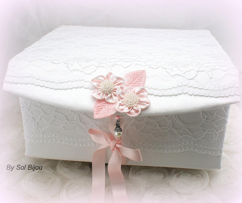 keepsake box baby girl baptism pink and white lace memory. Black Bedroom Furniture Sets. Home Design Ideas