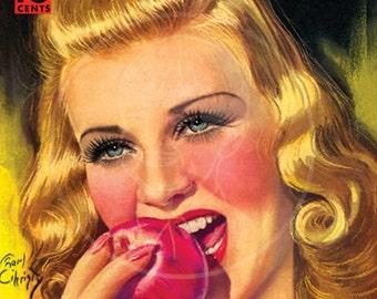 Modern Screen (Apr 1938) - 10x14 Giclée Canvas Print of Vintage Movie Magazine