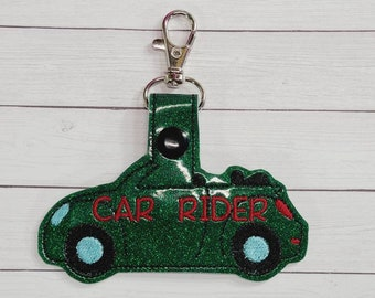 Car Rider Bag Tag - Backpack Tag - Back to School