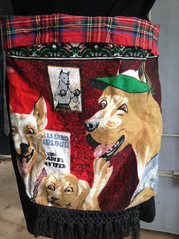 Dogs playing poker bag