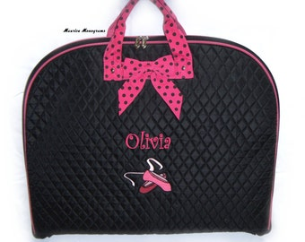 0990019fe31a Personalized Dance Garment Bag - Embroidered Ballet Shoes   Name