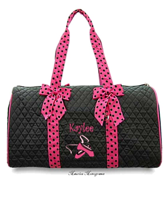 732f6aff6e Personalized Dance Duffel Bag With Embroidered Ballet Shoes