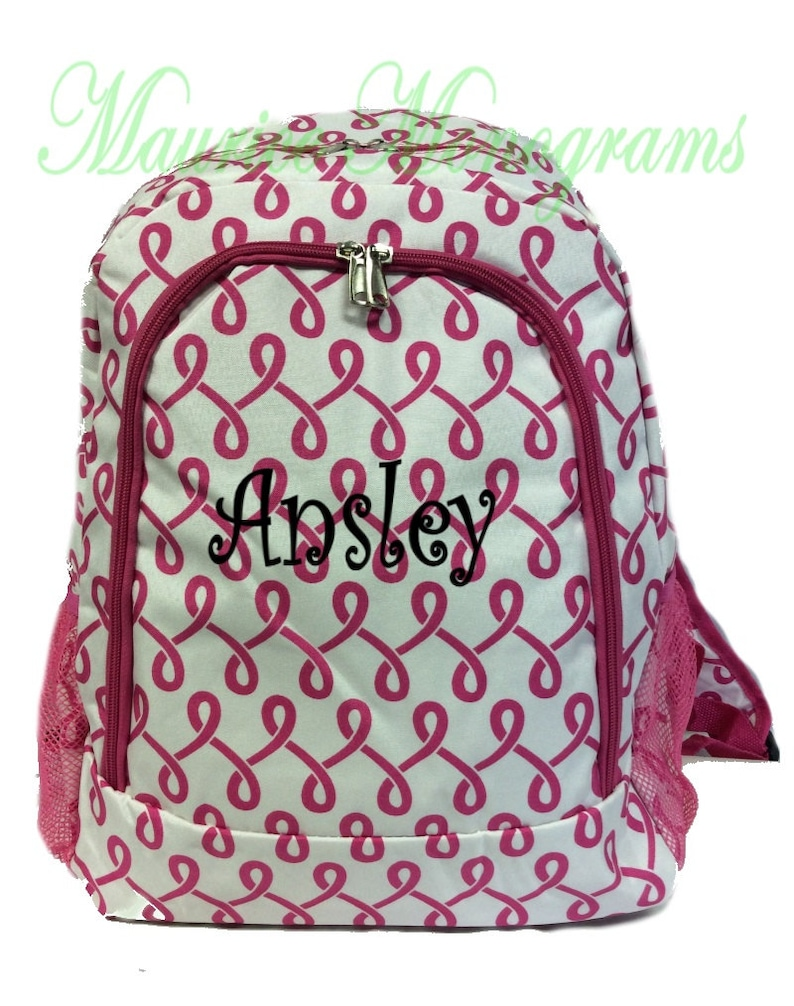 Personalized Floral /& Chevron Kids Backpack Swirls