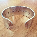 Always my sister forever my friend... cuff bracelet...