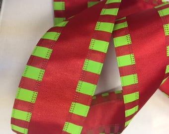 wire ribbon new red green stripe holiday christmas stripe ribbon 9 34 yards 25 wire edged ribbon wholesale christmas wreath ribbon - Christmas Ribbon Wholesale