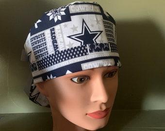 8fdc1a6b40db1 NFL Cowboys ponytail scrub cap