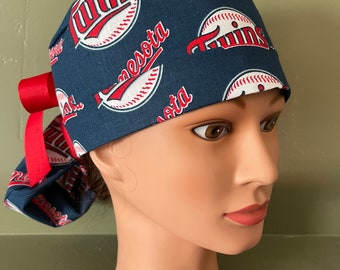 Details about  /MINNESOTA TWINS SURGICAL SCRUB CAP