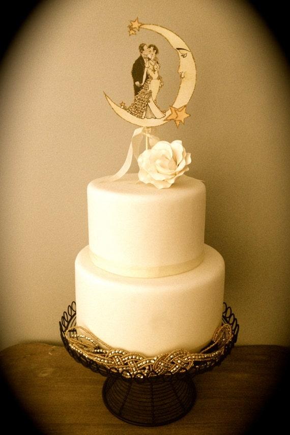 DIY Art Deco Wedding Decor Wedding Cake Topper High | Etsy