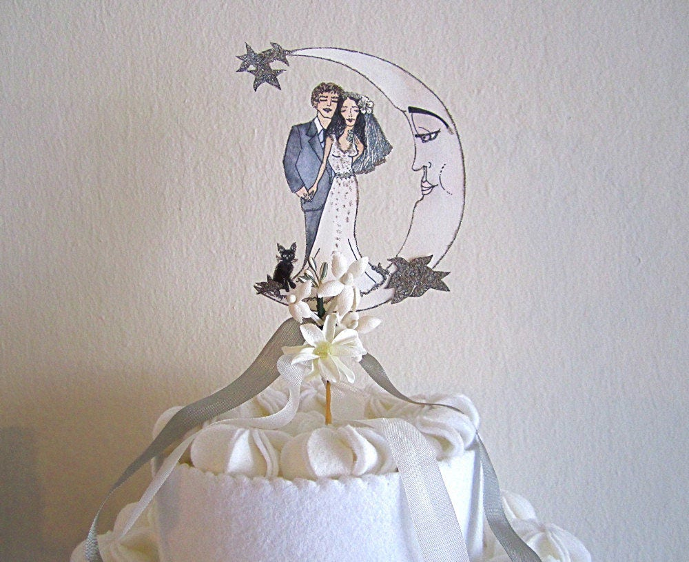 Portrait Wedding Cake Topper - Customized wedding Cake Topper ...