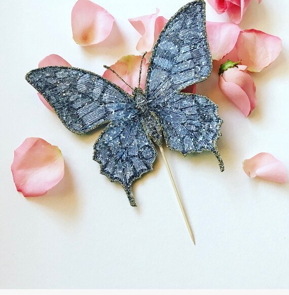 Butterfly Wedding Cake Topper. Butterfly Cake Topper. Botanical Cake Topper, Butterfly Decor. Personalized