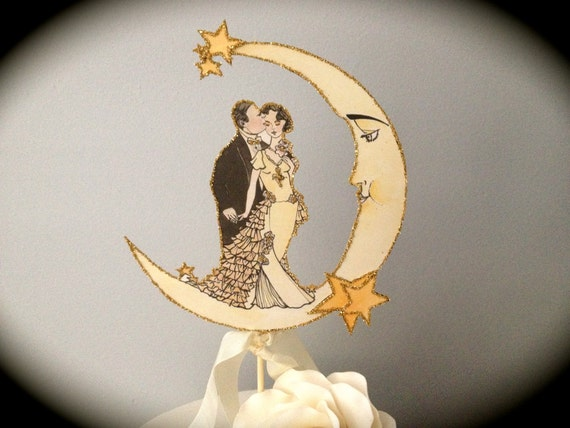 DIY Art Deco Wedding Decor - Wedding Cake Topper - High Resolution Pdf - Personal Use Only