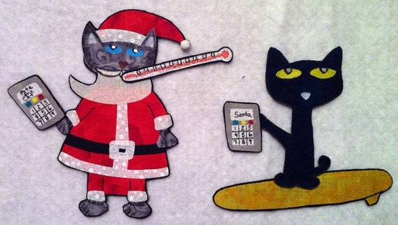 Pete The Cat Saves Christmas.Pete The Cat Saves Christmas Flannel Felt Board Story