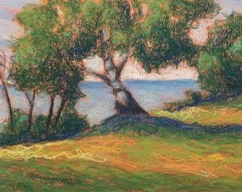 "Original Pastel Landscape Painting ""Perseverance"" 5x7"