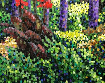 "Original Impressionist Oil Painting ""Canna Lily"" 16x20"