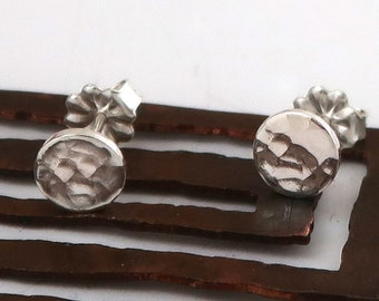 Sterling silver posts, silver post earrings, button earrings, women, eco friendly, gift for her, Christmas gift, bridesmaids gift