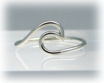 Wave ring, sterling silver ring, ocean wave ring, nautical ring, beach, eco friendly, women, gift for her, bridesmaid gift, Christmas gift