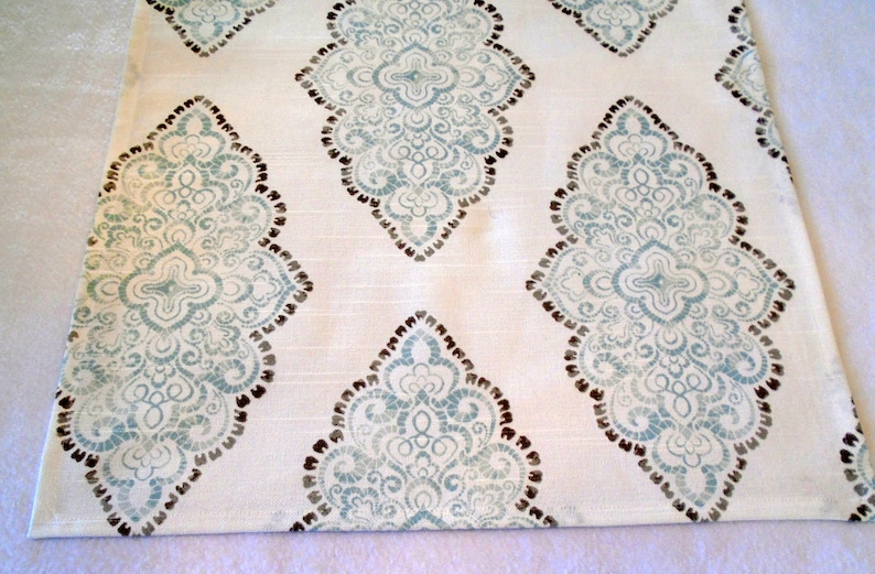 on White Background 100/% cotton Set Set of 4 Paisley in soft Mint and Grey Paisley Dinner Napkins