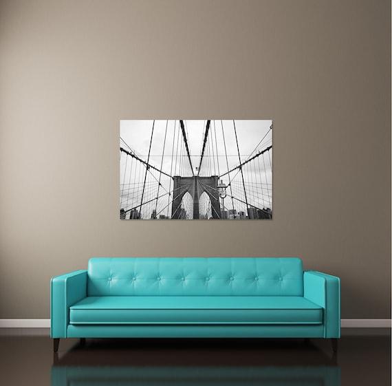 show original title Details about  /Image on canvas-tables brooklin bridge ny 30 forms fr 4048