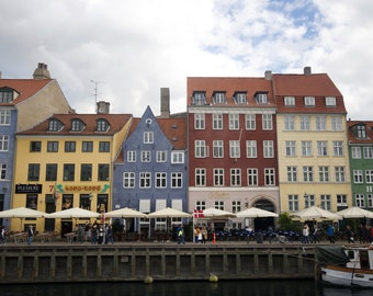 Nyhavn photo, Copenhagen print, Denmark photography, Copenhagen art, Copenhagen canvas