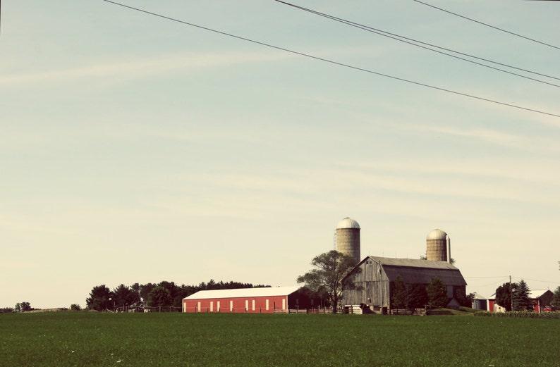 Farm photography, farm print, farm canvas, midwest farm, silo photo, barn  photo, barn print, barn canvas