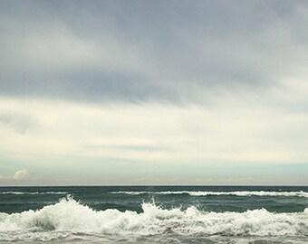 Wave art, Wave canvas, Wave print, Wave photo, blues and greens, ocean art, beach art, beach canvas, ocean canvas, ocean print, beach print
