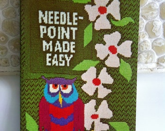 1974 vintage craft book - Needle-Point Made Easy by Picken and White