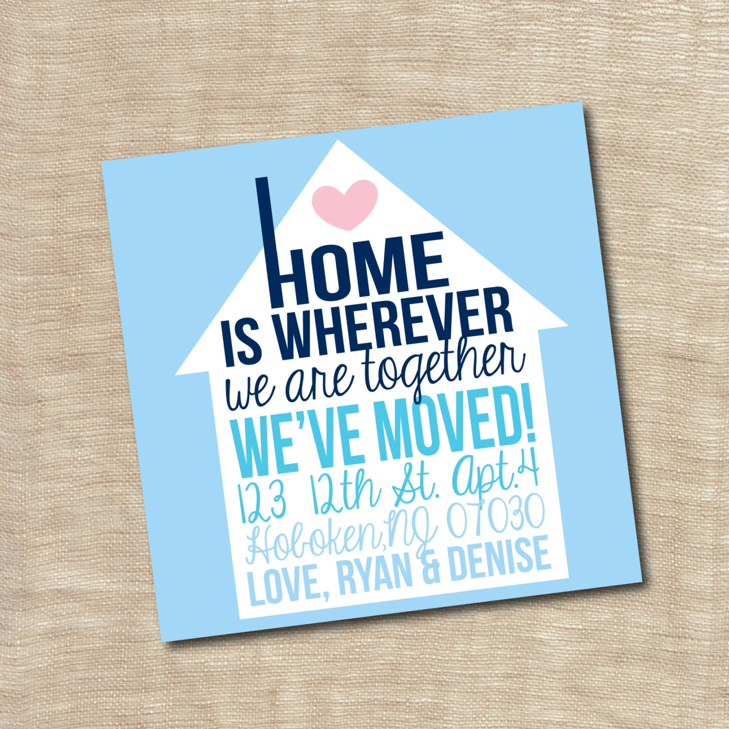 Housewarming Party Invitation New Home We Moved Announcement Etsy