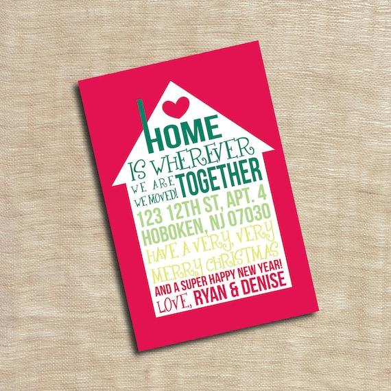 Invitación Fiesta Inauguración Nueva Casa Nos Mudamos Anuncio Tarjeta Personalizada Imprimible Personalizado