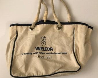 1eba92614e Vintage Weleda Canvas Tote Bag